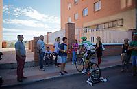 post-race warm-down for David Arroyo (ESP/Caja Rural-Seguros RGA)<br /> <br /> stage 19: Medina del Campo - Avila (186km)<br /> 2015 Vuelta à Espana