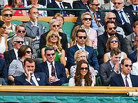 England, London, 28.06.2014. Tennis, Wimbledon, AELTC, Richard Krajicek and his wife Daphne Deckers in the Royalbox<br /> Photo: Tennisimages/Henk Koster