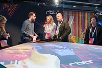 """11. re:publica-Konferenz in Berlin<br /> Vom 8. bis 10. Mai 2017 findet in Berlin die elfte re:publica-Konferenz in Berlin unter dem Motto """"Love Out Loud"""" statt. Die Veranstalter wollen mit dem Motto """"Love Out Loud!"""" (LOL fuer positiv Denkende) ein """"Zeichen fuer Engagement und Emanzipation in der digitalen Gesellschaft setzen"""".<br /> Die Konferenz zum Thema Internet und digitale Gesellschaft bietet auf bis zu 18 Buehnen parallel mehr als 500 Stunden Programm. Ein guter Teil davon dreht sich um netzpolitische Fragestellungen aller Art. Erwartet werden ca. 8.000 Veranstaltungsteilnehmer.<br /> Im Bild: Zu Gast am Stand des Rundfunk Berlin-Brandenburg (rbb) die rbb-Intendantin, Patricia Schlesinger Mitte und der Programmchef von radioeins (rbb), Robert Skuppin (rechts neben Schlesinger). Links der rbb-Moderator Marcus Richter.<br /> 8.5.2017, Berlin<br /> Copyright: Christian-Ditsch.de<br /> [Inhaltsveraendernde Manipulation des Fotos nur nach ausdruecklicher Genehmigung des Fotografen. Vereinbarungen ueber Abtretung von Persoenlichkeitsrechten/Model Release der abgebildeten Person/Personen liegen nicht vor. NO MODEL RELEASE! Nur fuer Redaktionelle Zwecke. Don't publish without copyright Christian-Ditsch.de, Veroeffentlichung nur mit Fotografennennung, sowie gegen Honorar, MwSt. und Beleg. Konto: I N G - D i B a, IBAN DE58500105175400192269, BIC INGDDEFFXXX, Kontakt: post@christian-ditsch.de<br /> Bei der Bearbeitung der Dateiinformationen darf die Urheberkennzeichnung in den EXIF- und  IPTC-Daten nicht entfernt werden, diese sind in digitalen Medien nach §95c UrhG rechtlich geschuetzt. Der Urhebervermerk wird gemaess §13 UrhG verlangt.]"""