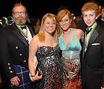"""John Graves, Courtney Powell, Leah Tolbert and Ashby Graves at the San Luis Salute to """"The Italian Riviera"""" at the Galveston Island Convention Center at the San Luis Friday  Feb. 20, 2009.(Dave Rossman/For the Chronicle)"""