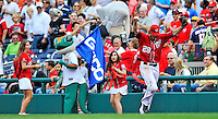 24 September 2011: Washington Nationals outfielder Jayson Werth wins the Geico Presidents race during a game against the Atlanta Braves at Nationals Park in Washington, DC. The Nationals defeated the Braves 4-1 to even up their 3-game series. Mandatory Credit: Ed Wolfstein Photo