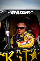 Apr 16, 2010; Surprise, AZ USA; LOORRS pro 4 unlimited driver Kyle Leduc during practice for round 3 at Speedworld Off Road Park. Mandatory Credit: Mark J. Rebilas-US PRESSWIRE