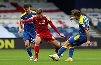 Ryan Longman of AFC Wimbledon dispossesses Matt Butcher of Accrington Stanley during AFC Wimbledon vs Accrington Stanley, Sky Bet EFL League 1 Football at The Kiyan Prince Foundation Stadium on 3rd October 2020