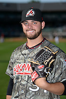 Arkansas Travelers pitcher Cam Bedrosian (37) poses for a photo before a game against the San Antonio Missions on May 25, 2014 at Dickey-Stephens Park in Little Rock, Arkansas.  Arkansas defeated San Antonio 3-1.  (Mike Janes/Four Seam Images)