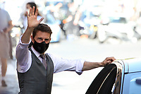 Actor Tom Cruise wearing a face mask on the set of the film Mission Impossible 7. <br /> Rome (Italy), October 9th 2020<br /> Photo Samantha Zucchi Insidefoto