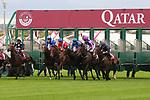 October 05, 2019, Paris (France) - Start of the Qatar Prix Chaudenay (Gr II) on October 5 at ParisLongchamp Race Course. [Copyright (c) Sandra Scherning/Eclipse Sportswire)]
