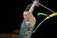 "February 13, 2016 - Tartu, Estonia - ANNA RIZATDINOVA of Ukraine wins gold in the All-Around at ""Miss Valentine"" 2016 international tournament."
