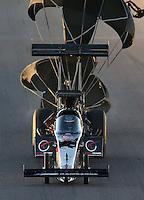 Feb. 22, 2013; Chandler, AZ, USA; NHRA top fuel dragster driver Larry Dixon during qualifying for the Arizona Nationals at Firebird International Raceway. Mandatory Credit: Mark J. Rebilas-
