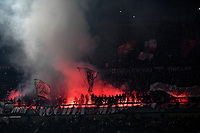 Milan fans light up smoke bombs during the Serie A 2018/2019 football match between AC Milan and FC Internazionale at stadio Giuseppe Meazza, Milano, March 17, 2019 <br /> Photo Andrea Staccioli / Insidefoto