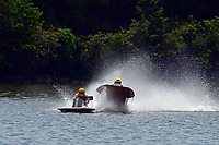 Frame 3: 40-M rides up the rooster tail of 20-M    (Outboard Hydroplane)