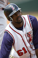 Abercrombie, Reggie 0785 (Andrew Woolley).jpg. Pacific Coast League Oklahoma City RedHawks against the Round Rock Express at Dell Diamond on May 10th 2009 in Round Rock, Texas. Photo by Andrew Woolley.