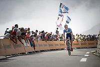 Anthony Turgis (FRA/Total - Direct Energie) up the Tourmalet (HC/2115m/19km @7.4%)<br /> <br /> Stage 14: Tarbes to Tourmalet(117km)<br /> 106th Tour de France 2019 (2.UWT)<br /> <br /> ©kramon