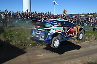 23rd May 2021; Felgueiras, Porto, Portugal; WRC Rally of Portugal, stages SS16-SS20;  Adrien Fourmaux-Ford Fiesta WRC