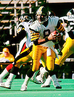 Tom Porris HamiltonTiger Cats quarterback. Copyright photograph Scott Grant
