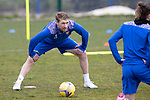 St Johnstone Training....30.04.21<br />David Wotherspoon pictured stretching during training at McDiarmid Park ahead of tomorrows game at Hibs.<br />Picture by Graeme Hart.<br />Copyright Perthshire Picture Agency<br />Tel: 01738 623350  Mobile: 07990 594431