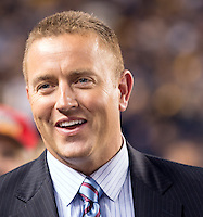 ESPN college football analyst Kirk Herbstreit.  The Pittsburgh Panthers defeated the Notre Dame Fighting Irish 28-21 at Heinz Field, Pittsburgh, Pennsylvania on November 9, 2013.
