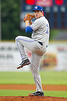Bluefield Blue Jays starting pitcher Jeremy Gabryszwski #21 in action against the Elizabethton Twins at Joe O'Brien Field on July 14, 2012 in Elizabethton, Tennessee.  The Twins defeated the Blue Jays 4-0.  (Brian Westerholt/Four Seam Images)