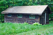 Cabin at the Mead Conservation Center in Sandwich, New Hampshire during the summer months.