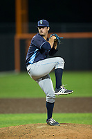 Wilmington Blue Rocks relief pitcher Jake Kalish (35) in action against the Buies Creek Astros at Jim Perry Stadium on April 29, 2017 in Buies Creek, North Carolina.  The Astros defeated the Blue Rocks 3-0.  (Brian Westerholt/Four Seam Images)