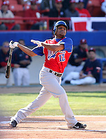 Anderson Hernandez / Dominican Republic - 2009 Caribbean Series, Mexicali..Photo by:  Bill Mitchell/Four Seam Images