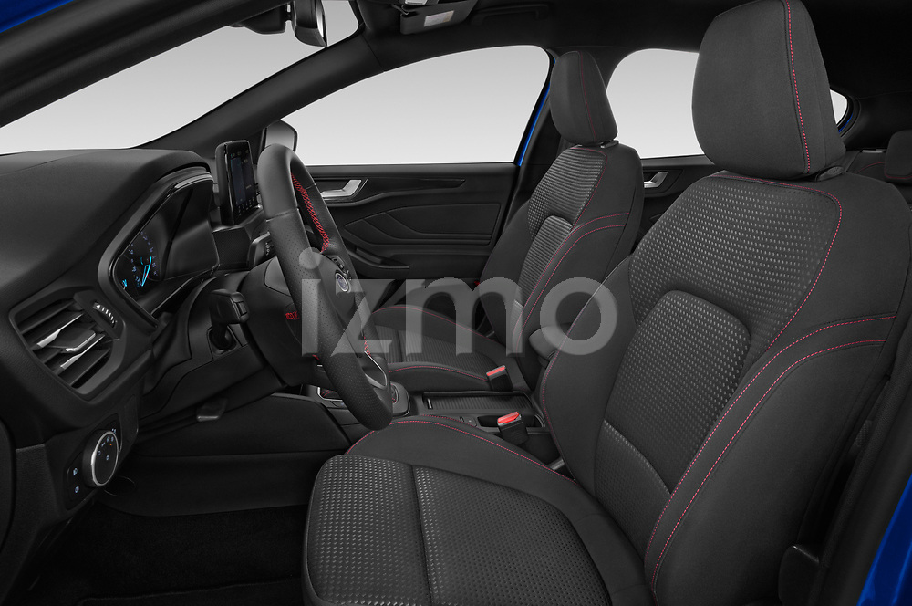 Front seat view of a 2018 Ford Focus ST Line Business 4 Door Hatchback front seat car photos