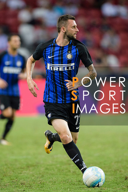 FC Internazionale Midfielder Marcelo Brozovic in action during the International Champions Cup match between FC Bayern and FC Internazionale at National Stadium on July 27, 2017 in Singapore. Photo by Weixiang Lim / Power Sport Images