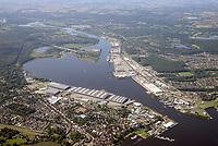 Kaianlagen an der Trave: EUROPA, DEUTSCHLAND, SCHLESWIG- HOLSTEIN, LÜBECK, (GERMANY), 23.08.2017: Luebeck