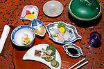 Japan, Chūbu (Central Honshu), Takayama: Traditional Japanese meal | Japan, Chūbu (Zentral Honshu), Takayama: traditionelles japanisches Essen