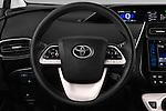 Car pictures of steering wheel view of a 2016 Toyota Prius Comfort 5 Door Hatchback Steering Wheel