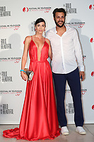 Monte-Carlo, Monaco, 18/06/2017 - 30th Anniversary of 'The Bold and the Beautiful' party Arrival Photocall at the Monte-Carlo Bay, Monaco, during the 57th Monte-Carlo Television Festival. Federica Torti and Federico Balocco. # 30EME ANNIVERSAIRE DE 'AMOUR, GLOIRE ET BEAUTE'