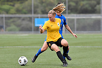 Charlotte Wilford Carroll of Capital competes for the ball with Rose Morton of Southern during the Handa Women's Premiership - Capital Football v Southern United at Petone Memorial Park, Wellington on Saturday 7 November 2020.<br /> Copyright photo: Masanori Udagawa /  www.photosport.nz