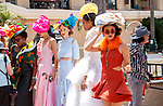 DEL MAR, CA  JULY 16: Fancy dresses and hats (Photo by Casey Phillips/ Eclipse Sportswire/ CSM)