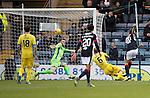 Dundee v St Johnstone….31.12.16     Dens Park    SPFL<br />Kostadin Gadzhalov scores the seonf goal<br />Picture by Graeme Hart.<br />Copyright Perthshire Picture Agency<br />Tel: 01738 623350  Mobile: 07990 594431