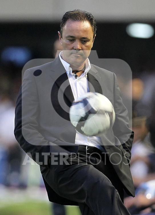 Catagena's coach Juan Ignacio Martinez during Spanish 2th Division match.June, 6, 2010. (ALTERPHOTOS/Acero)