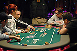 A view of the the TV Final table