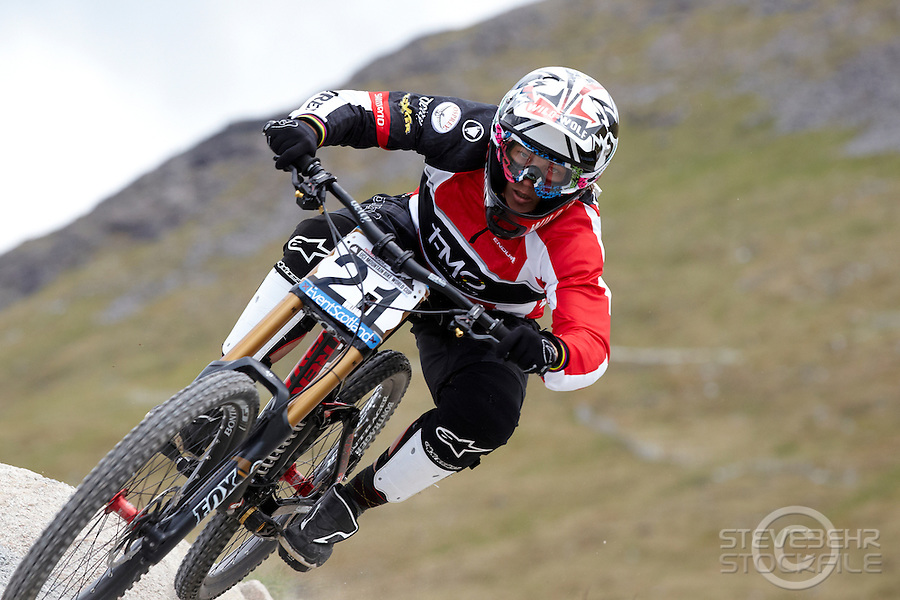Tracy Moseley , Fort William   , Scotland ,  June  2012 pic copyright Steve Behr / Stockfile