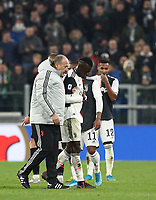 Calcio, Serie A: Juventus - Milan, Turin, Allianz Stadium, November 10, 2019.<br /> Juventus' Blaise Matuidi (r) leaves the pitch in pain during the Italian Serie A football match between Juventus and Milan at the Allianz stadium in Turin, November 10, 2019.<br /> UPDATE IMAGES PRESS/Isabella Bonotto