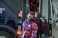 KANSAS CITY, KS - JULY 15: Sebastian Lletget #17 of the United States arriving at the stadium before a game between Martinique and USMNT at Children's Mercy Park on July 15, 2021 in Kansas City, Kansas.