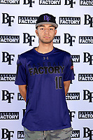 Salvador Tabullo (10) of Maranatha High School in Pasadena, California during the Baseball Factory All-America Pre-Season Tournament, powered by Under Armour, on January 12, 2018 at Sloan Park Complex in Mesa, Arizona.  (Mike Janes/Four Seam Images)