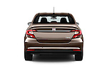 Straight rear view of 2016 Fiat Tipo Easy 4 Door Sedan Rear View  stock images