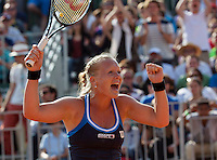 France, Paris, 31.05.2014. Tennis, French Open, Kiki Bertens (NED) Gaat uit haar dak na haar overwinning op  Soler-Espinoza<br /> Photo:Tennisimages/Henk Koster