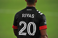 WASHINGTON, DC - SEPTEMBER 12: Gelmin Rivas #20 of D.C. United during a game between New York Red Bulls and D.C. United at Audi Field on September 12, 2020 in Washington, DC.