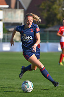 Charlotte Cranshoff (18) of OH Leuven pictured during a female soccer game between SV Zulte - Waregem and Oud Heverlee Leuven on the sixth matchday of the 2021 - 2022 season of Belgian Scooore Womens Super League , saturday 9 of October 2021  in Zulte , Belgium . PHOTO SPORTPIX | DIRK VUYLSTEKE