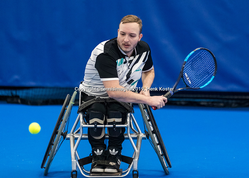 Amstelveen, Netherlands, 8  December, 2020, National Tennis Center, NTC, NKR, National  Indoor Wheelchair Tennis Championships, Men's single: Mitchel Graauw (NED)<br /> Photo: Henk Koster/tennisimages.com