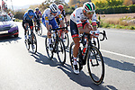 The breakaway led here by Rui Costa (POR) UAE Team Emirates during Stage 8 of the Vuelta Espana 2020 running 160km from Logroño to Alto de Moncalvillo, Spain. 28th October 2020.   <br /> Picture: Luis Angel Gomez/PhotoSportGomez | Cyclefile<br /> <br /> All photos usage must carry mandatory copyright credit (© Cyclefile | Luis Angel Gomez/PhotoSportGomez)