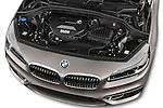 Car Stock 2015 BMW 2 Series 5 Door Mini MPV 2WD Engine high angle detail view