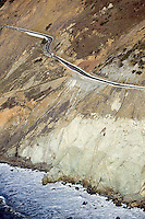 aerial photograph Devil's slide tunnel San Mateo County, California