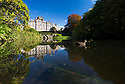 10/10/16 <br /> <br /> Stunning autumn colour is reflected into a pond at the National Trust's Biddulph Grange near Stoke on Trent, Staffordshire.<br /> <br /> All Rights Reserved: F Stop Press Ltd. +44(0)1773 550665   www.fstoppress.com