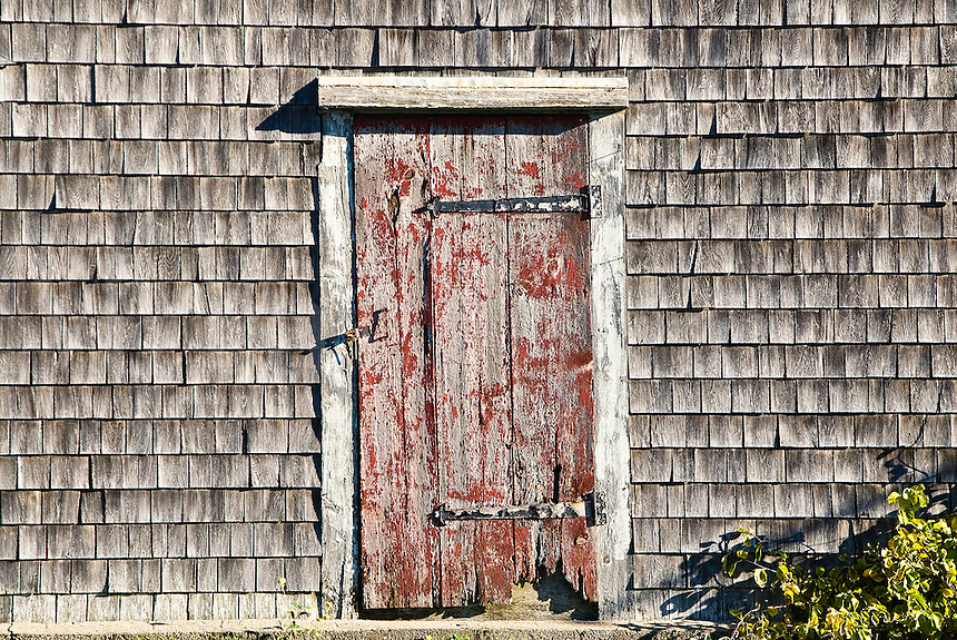 Rustic door and shingles, Cape Cod, MA
