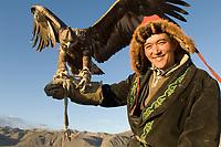 Men at the Altai eagle festival